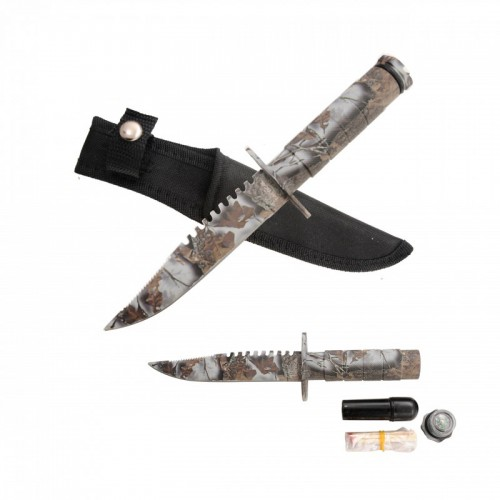 "8.5"" SURVIVAL KNIFE WITH NYLON SHEATH"